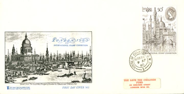 London 1980: 50p Stamp, S W Prospect of London