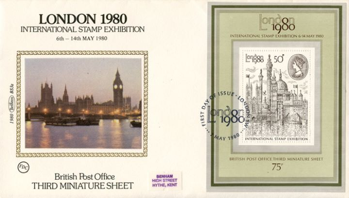 London 1980: Miniature Sheet, Houses of Parliament