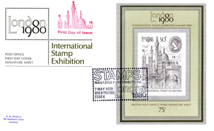 London 1980: Miniature Sheet, International Stamp Exhibition