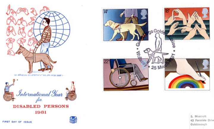Year of the Disabled, Special Handstamps
