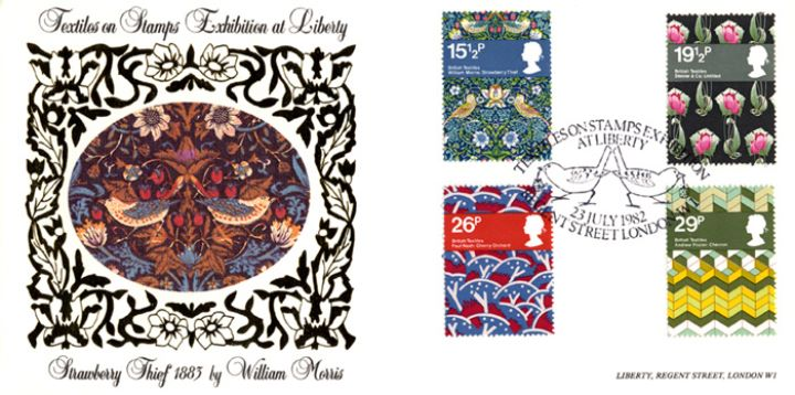 British Textiles, Strawberry Thief by William Morris at Libertys