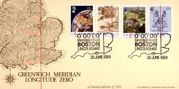 Greenwich Meridian, Antique Map