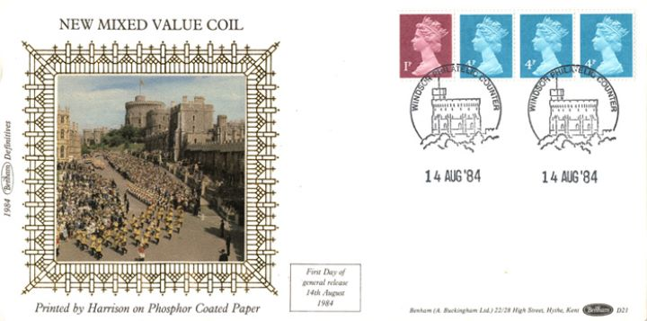 Machins: 13p Readers' Digest Stamp Coil, Windsor Castle