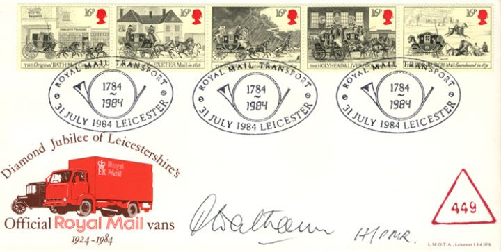 The Royal Mail, Official Royal Mail Vans