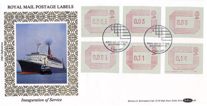 32 values 1/2p to 16p [Frama Labels], Ocean Liner