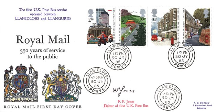 The Royal Mail, Selected cds postmarks