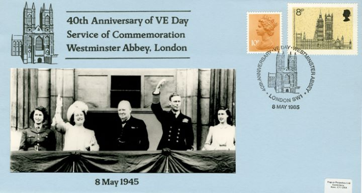 VE Day - 40th Anniversary, Churchill and Royal Family