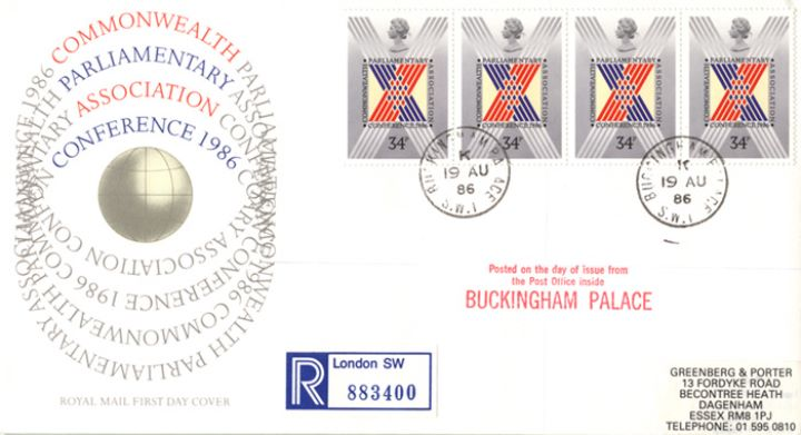 Parliament 1986, Buckingham Palace Postmark
