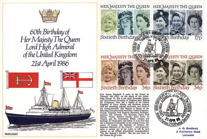 Queen's 60th Birthday, Lord High Admiral - Britannia