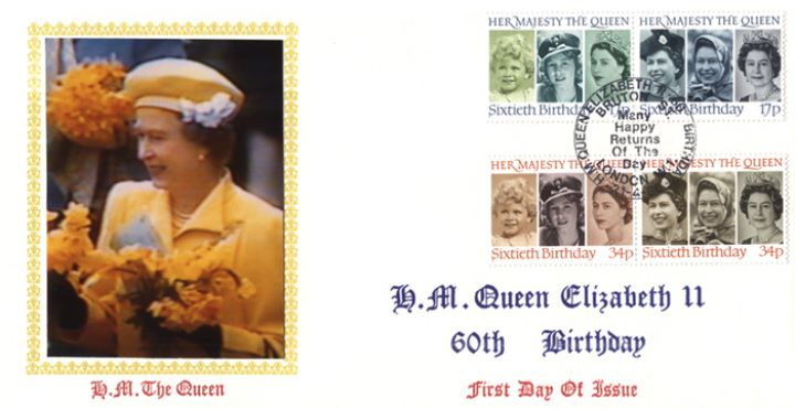 Queen's 60th Birthday, HM The Queen with Daffodils