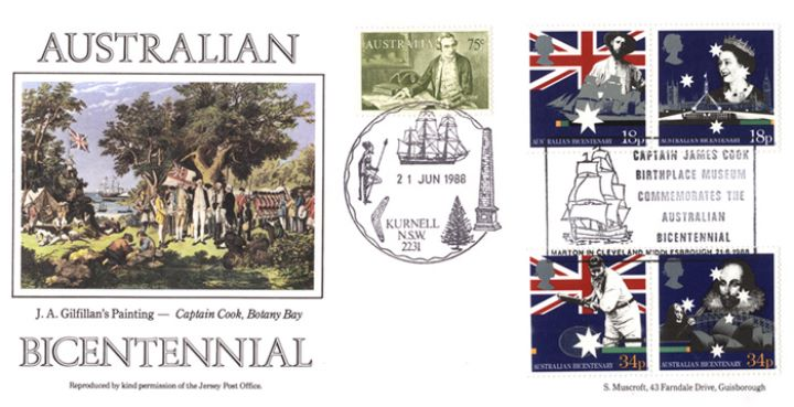 Australian Bicentenary, Captain Cook at Botany Bay