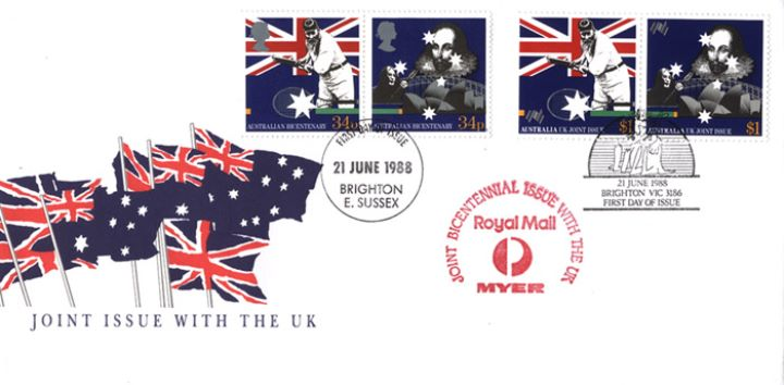 Australian Bicentenary, Australian & UK Flags