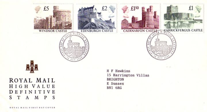 Castles:, High Value Definitive Stamps