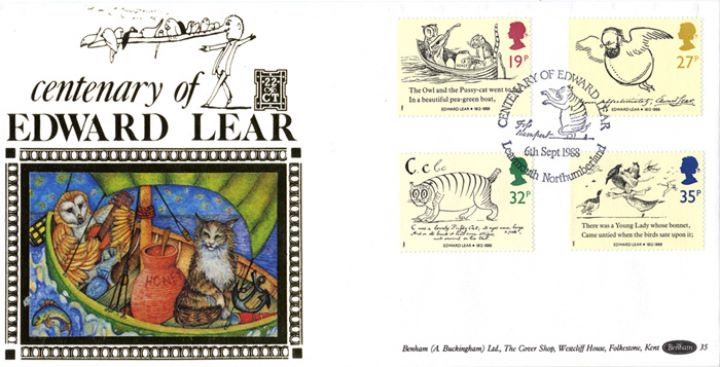 Edward Lear: Stamps, The Owl and the Pussycat