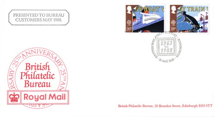 Philatelic Bureau 25th Anniversary, Presented to Bureau Customers