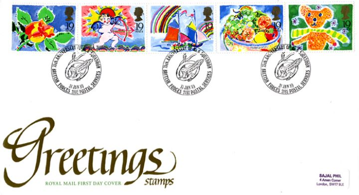 Greetings stamps first day cover bfdc greetings stamps greetings stamps m4hsunfo