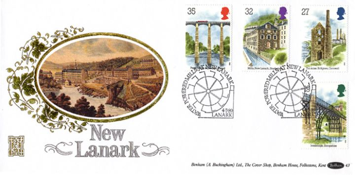 Ind. Archaeology: Stamps, New Lanark Mills