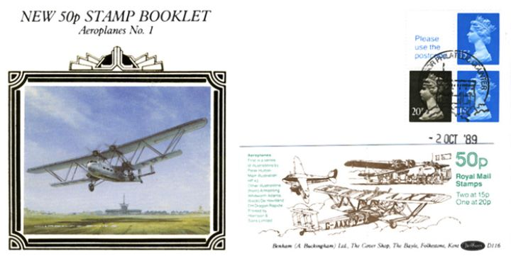 Vending: New Design: 50p Aircraft 1, Biplane