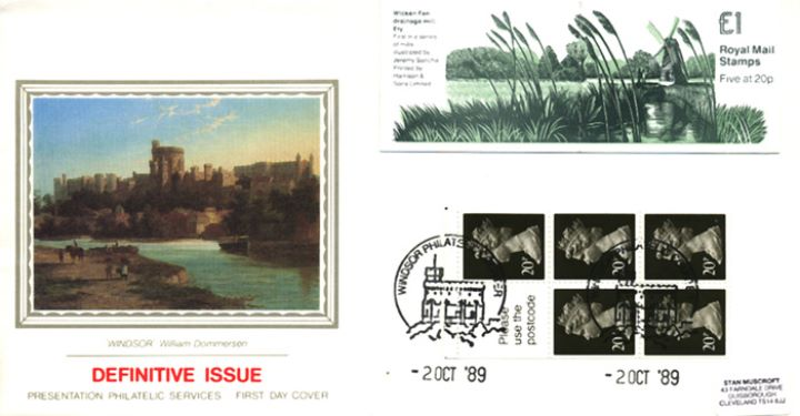 Vending: New Design: £1 Mills 1 (Wicken Fen), Windsor from the Thames