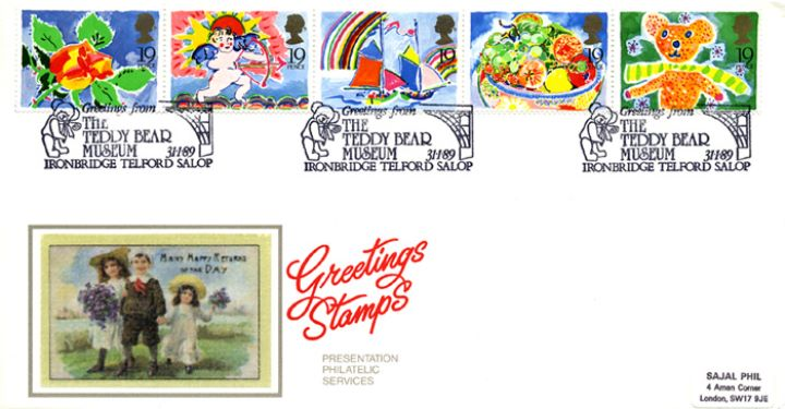 Greetings Stamps, Many Happy Returns