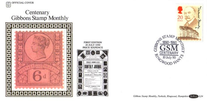 Thomas Hardy, Centenary of Gibbons Stamp Monthly