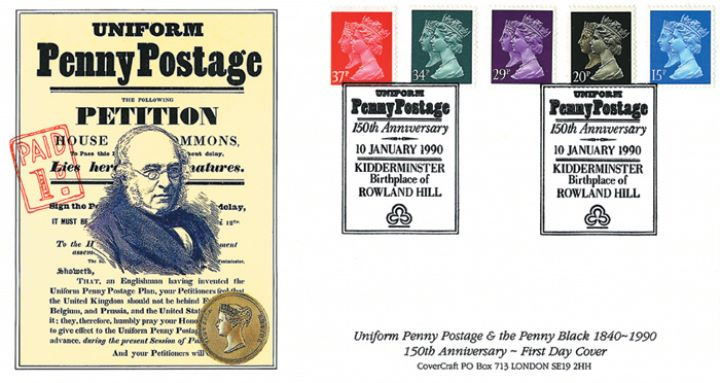 Penny Black Anniversary, Penny Postage