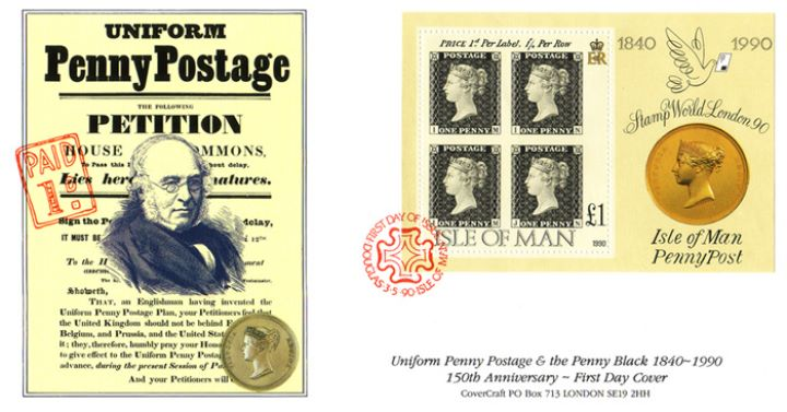 Penny Black Anniversary, Uniform Penny Postage Petition