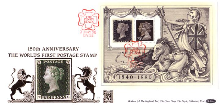 Penny Black: Miniature Sheet, 150th Anniversary of the Penny Black