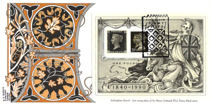 Penny Black: Miniature Sheet, Etchingham Stamp Festival