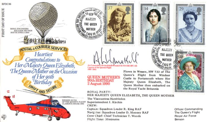 Queen Mother 90th Birthday, Postal & Courier Services