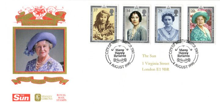 Queen Mother Ninety Today, Sun Promotional Birthday Souvenir