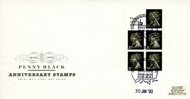 Vending: Penny Black Anniversary: £1 Mills 1 (Wicken Fen), New Stamp Pane