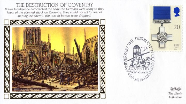 The Destruction of Coventry, 400 tons of bombs were dropped