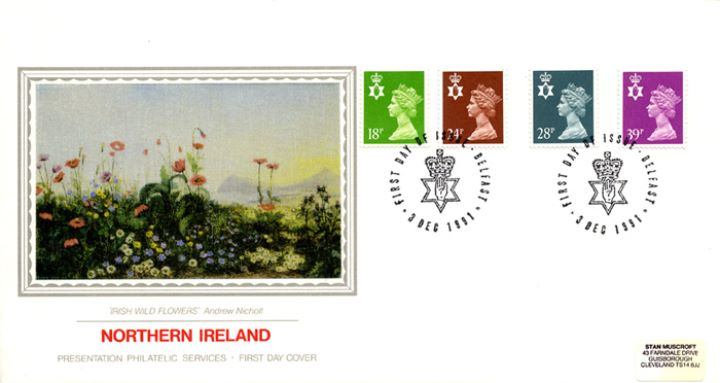 Northern Ireland 18p, 24p, 28p, 39p, Irish Wild Flowers