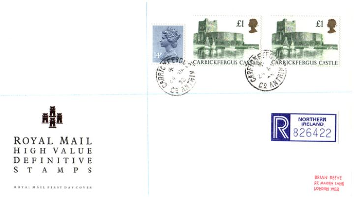 Castles: (EP), High Value Definitives Stamps (Set of 4)