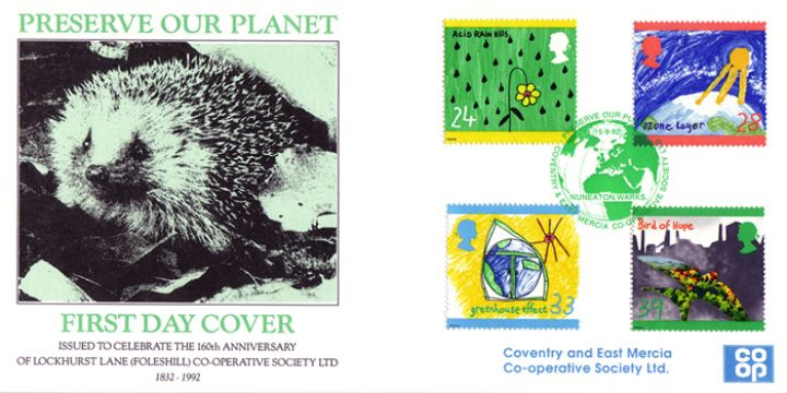 Green Issue, Hedgehog - Preserve Our Planet