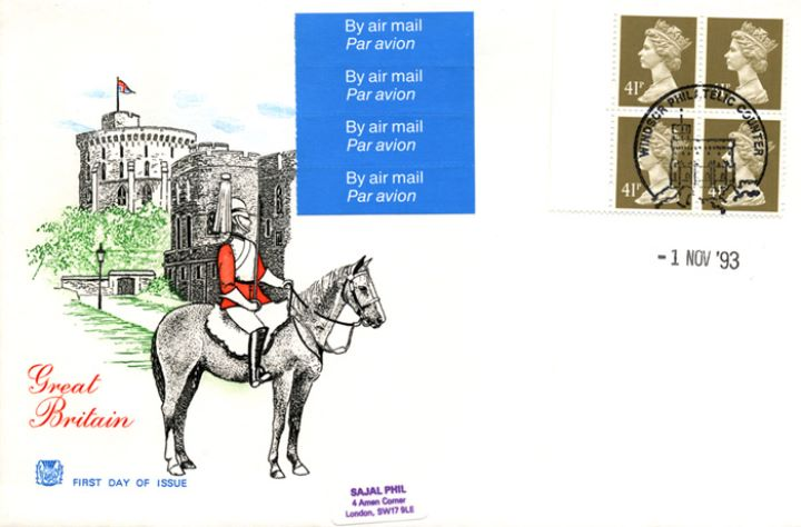 Window: Airmail: £1.64, Windsor Castle