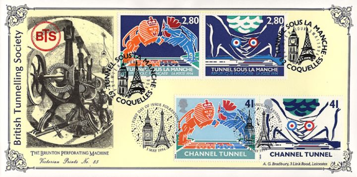 Channel Tunnel, Tunnelling Society double pmk