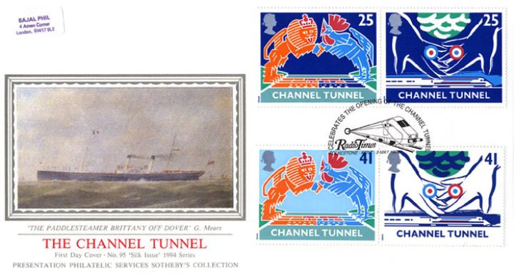 Channel Tunnel, The Paddlesteamer 'Britanny' off Dover