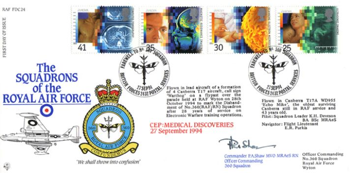 Medical Discoveries, Squadrons of the Royal Air Force