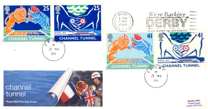 Channel Tunnel, Slogan Postmarks