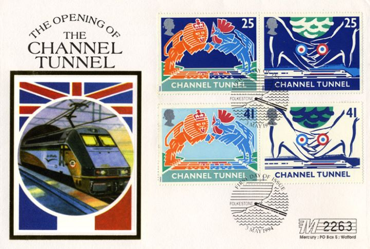 Channel Tunnel, Le Shuttle and Flags