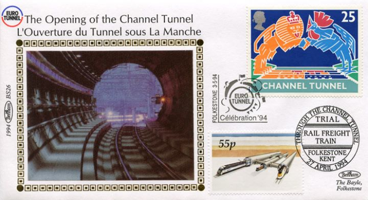 Channel Tunnel, Tunnel entrance