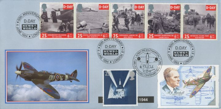 Peace and Freedom, D-Day and VE Day Double Dated Cover