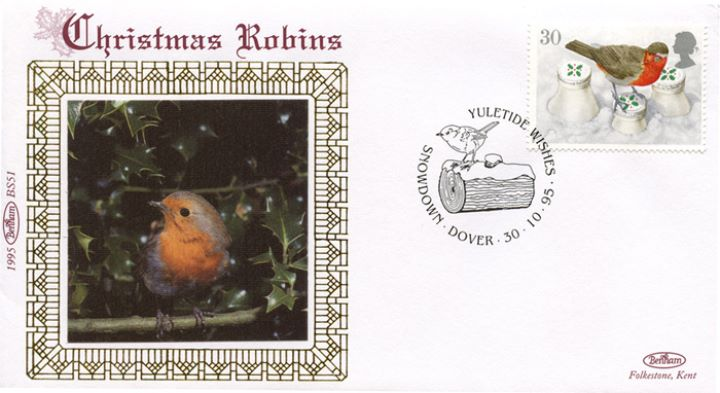 Christmas 1995, Robin in holly