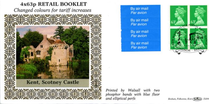 Window: New Contents: Airmail Olympics £2.52, Scotney Castle, Kent