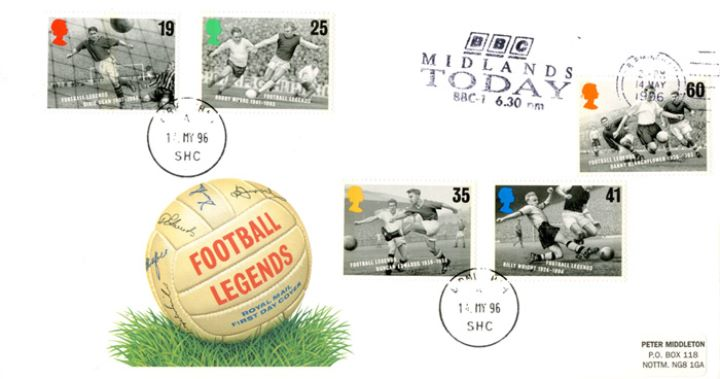 Football Legends, Slogan Postmarks
