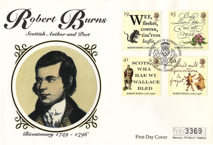 Robert Burns Bicentenary, Scottish Author and Poet