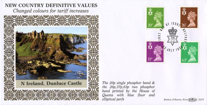 Northern Ireland 20p, 26p, 37p, 63p, Dunluce Castle