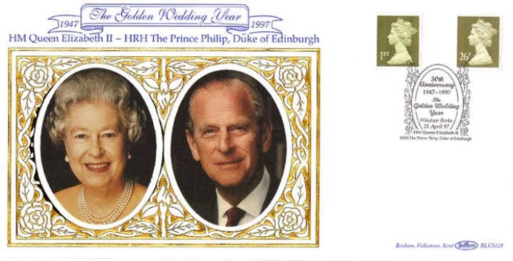 Machins (EP): Gold Definitives: 1st & 26p, Queen Elizabeth & Prince Philip